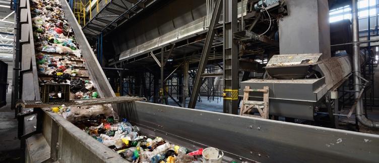 planta industrial de reciclaje